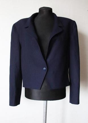 Винтажный пиджак франция electre 100% шерсть
