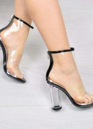 Прозрачные ботинки последний размер!