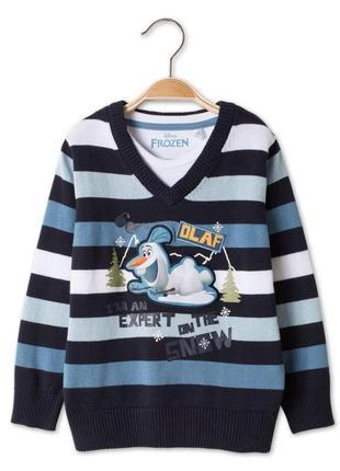 Фирменный яркий модный свитер disney c&a
