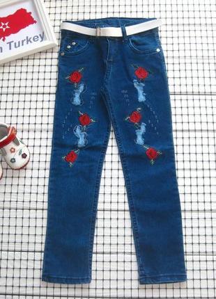 ✔ джинсы для девочки( полномерные)-новые