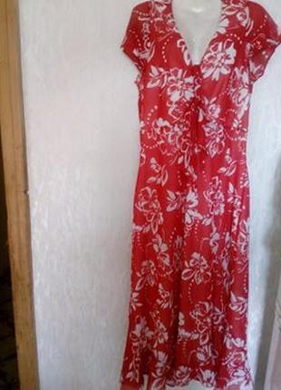 Симпатичное шифоновое платье на подкладке