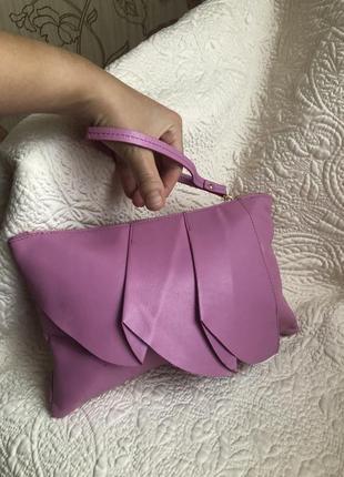 Стильный яркий клатч, кожаный сумка, сумочка, барсетка кошелёк на ручке,натуральная кожа