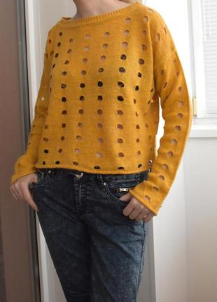 M – vip – avant premiere - стильный вязаный джемпер свитер – оверсайз – новый