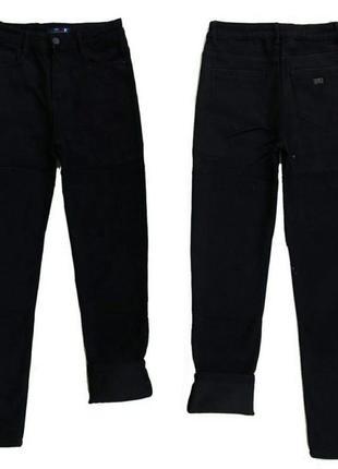 Черные джинсы на флисе зима большие размеры баталы