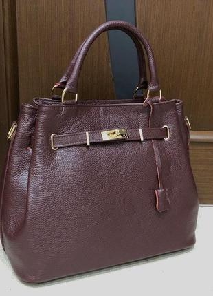Кожаная сумка сумка из натуральной кожи италия портфель шкіряна сумка
