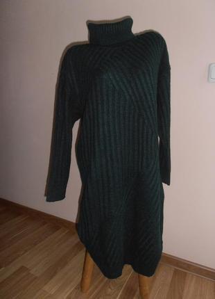 Уютное вязанное платье- джемпер  next