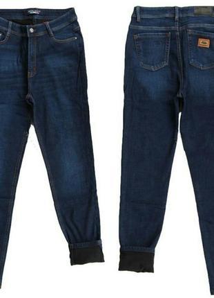 Синие джинсы на флисе большие размеры!
