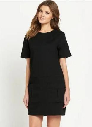 Стильное маленькое черное джинсовое платье south р. 16