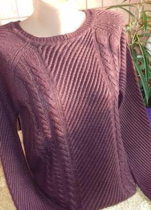 Вязаный бордовый свитер от dorothy perkins