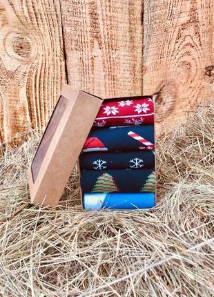 Набор новогодних носков, the pair of socks, из 5 пар