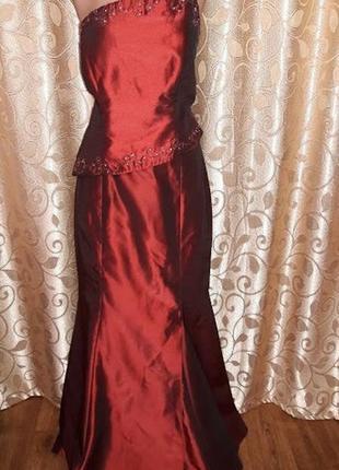 🎀👗🎀красивое длинное женское вечернее, выпускное платье gynashy🔥🔥🔥