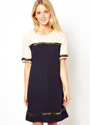 Шикарное , дорогое коктейльное платье french connection, на бирке 150 фунтов.