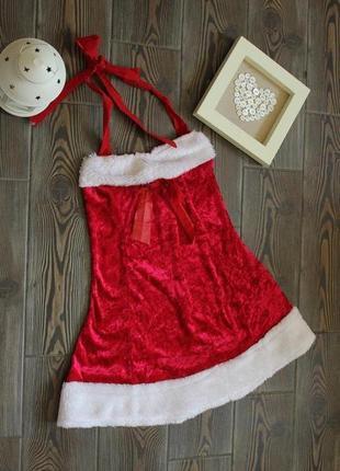 Новогоднее рождественское  платье костюм снегурочки