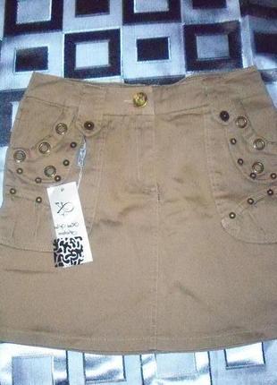 1+1+3 новая короткая юбка ,плотная х/б, разм.s