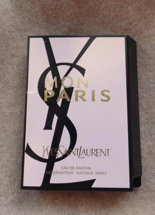 Пробник парфюма yves saint laurent - mon paris