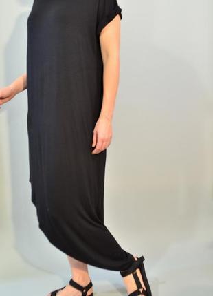 3088\70 платье-футболка с асимметричным подолом  boohooxl