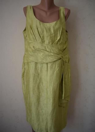 Красивое элегантное льняное платье большого размера alexon