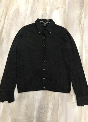 Кашемировый свитер рубашка кардиган banana republic. 100% кашемир шотландия. размер l.