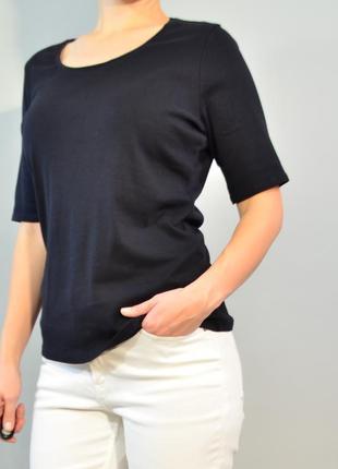 3086\50 черная футболка из плотного хлопка m&s xxxl