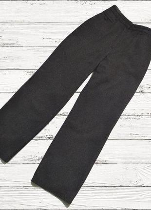Теплі якісні брюки шерсть віскоза льон/штани/качественные базовые прямые штаны