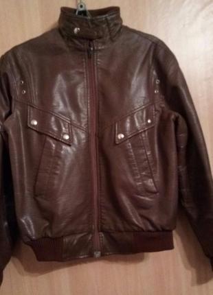Куртка на подростка.еко-кожа.
