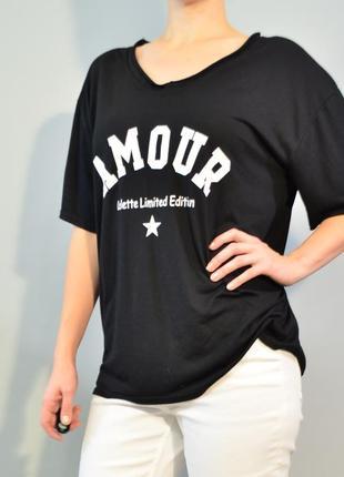 3085\40 свободная футболка черного цвета noname