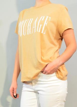 3082\30 футболка бежевого цвета primark l