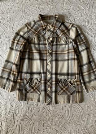Тёплая клечатая рубашка, куртка из шерсти