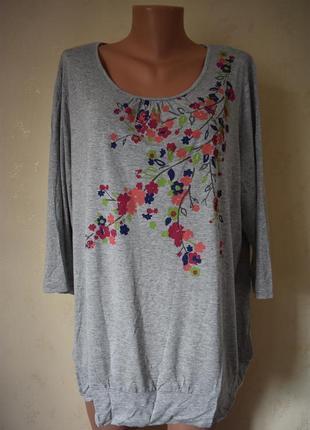 Новая трикотажная блуза с принтом bhs