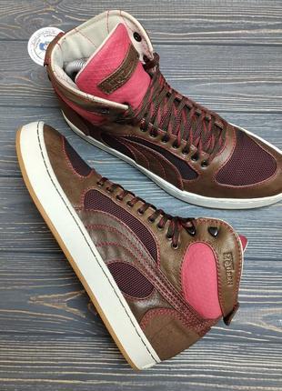 Кожаные ботинки кроссовки alexander mcqueen x puma оригинал!