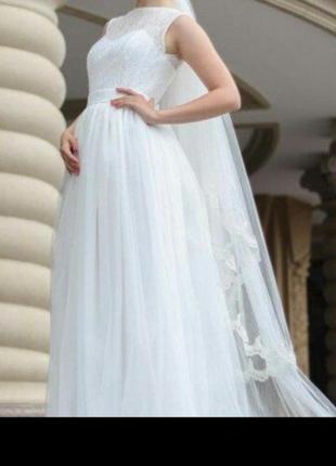 Вечернее - свадебное платье, цвет айвори