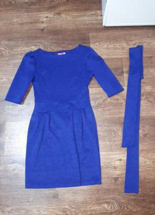 Ярко синее платье,на корпоратив,новый год