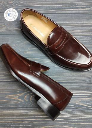 Новые кожаные лоферы туфли samuel windsor оригинал!