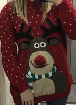 Новогодний, рождественский свитер
