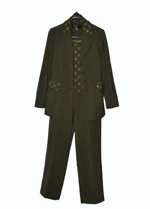 Женский зеленый костюм-тройка  g.y.y.z