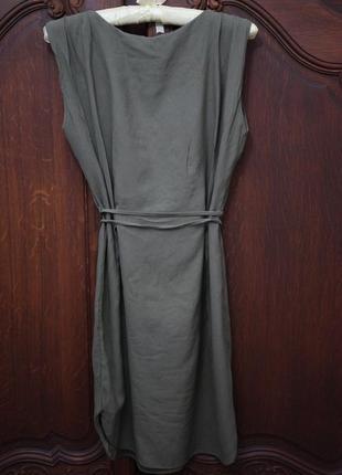 Легкое летнее платье цвкт хаки mango