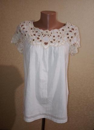 Легкая белая летняя блуза кофта french connection