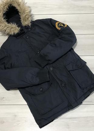 Мужская зимняя пуховая парка, куртка superdry оригинал