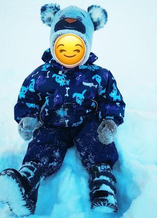 Обалденный зимний костюм reima+ подарок на 1-2 годика (комбинезон курточка)