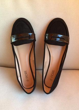 Fiore matalan легкие туфли балетки лоферы эко-кожа замша