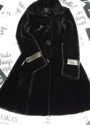 Шуба из натурального меха, хитовая цена! меховое пальто