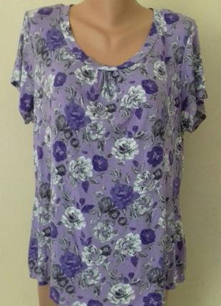 Трикотажная блуза с принтом большого размера marks & spencer