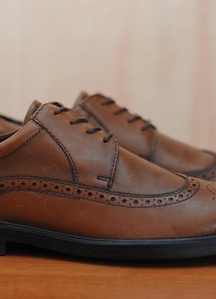 Кожаные коричневые мужские броги, туфли marks & spencer. 43 - 44 размер. оригинал