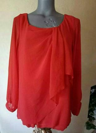 Скидка!красная блуза с длинным рукавом