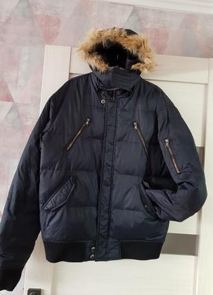 Мужской темно-синий пуховик x-code ,зимняя куртка