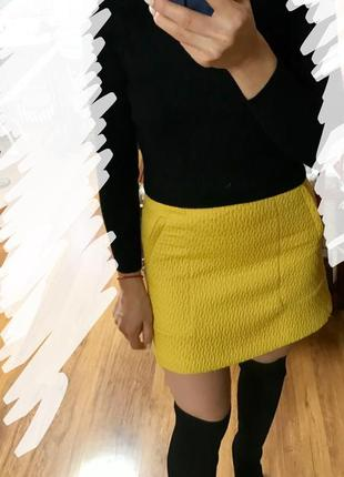 Желтая юбка orsay