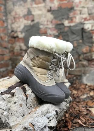 Ботинки columbia thermolite зимние женские оригинальные кожаные
