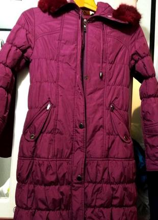 Курточка тёплая с капюшоном, для холодной осени и зимы