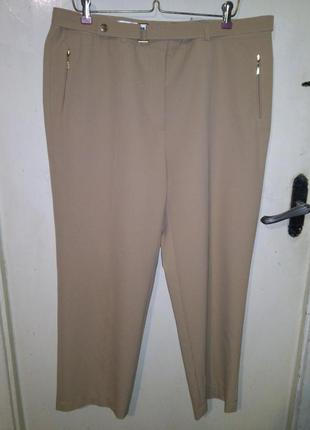 23% шерсть,7% стрейч-бомбезные,песочные (фото 3),зауженные брюки с поясом,бол. 18-22р.
