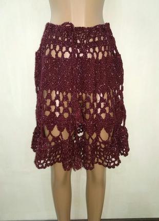Вязанная юбка ручной работы